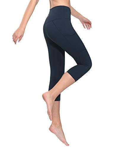 334e893fb99470 Baleaf Women's High Waist Tummy Control Yoga Workout Capris Leggings Side  Pockets