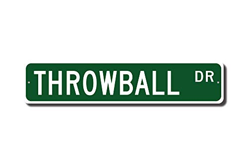 Iliogine Throwball Sign Throwball Fan Throwball Player Throwball Gift Noncontact Ball Sport Street Sign Novelty Metal Aluminum Sign Men Home - Throwball Player