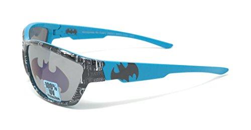 DC Comics Batman Kid's Sunglasses in Turquoise and Black with Bat Signal - Sunglasses Batman Kids