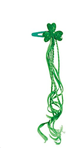 Shamrock Hair Clip - St Patricks Day Clover Accessories Green Hair Extension Clip Women