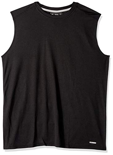 (Russell Athletic Men's Dri-Power Performance Mesh Sleeveless Muscle, Black, M)