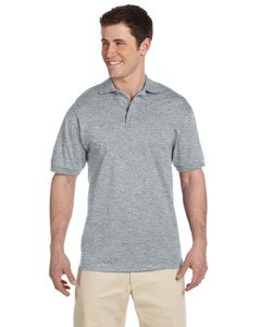 - Jerzees mens 6.1 oz. Heavyweight Cotton Jersey Polo(J100)-ATHLETIC HEATHER-L