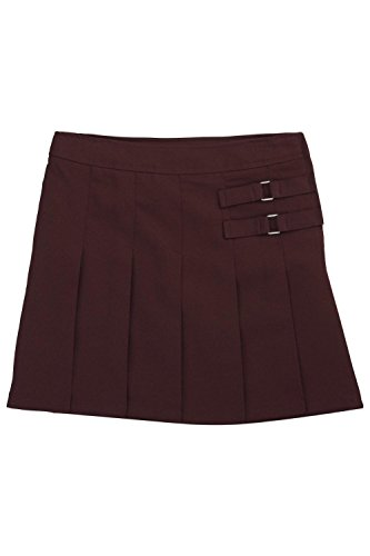 French Toast Little Girls' Two-tab Pleated Scooter, Burgundy, 5 by French Toast