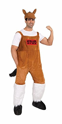 Forum Novelties Men's Totally Twosome Bud The Stud Stallion Costume, Brown, Standard