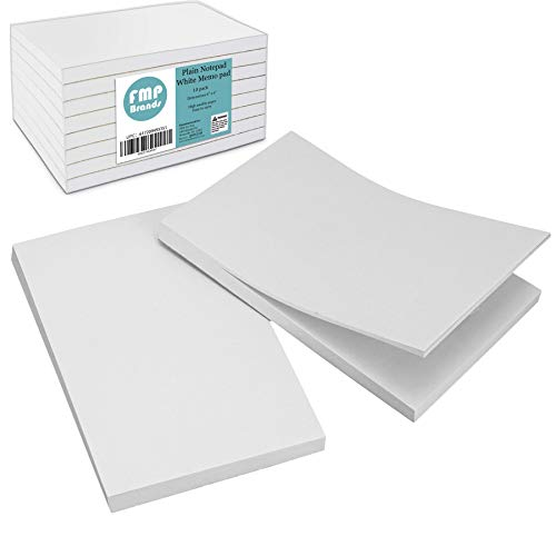 [10 Pack] 100 Sheets Plain Notepad - 4 x 6
