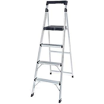 Tricam Industries As 4g Tv 4 Step Aluminum Ladder Aluminum
