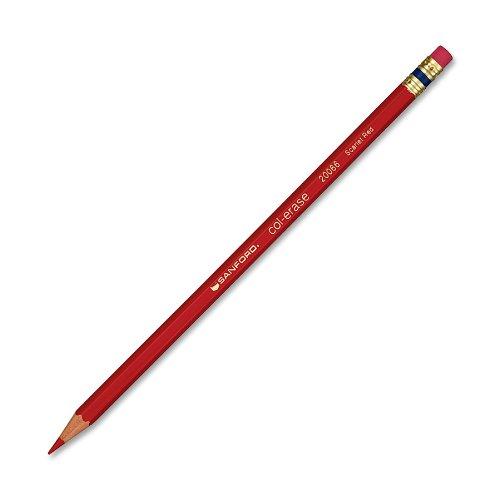 Prismacolor Col-Erase Erasable Colored Pencil, Scarlet Red, 12 Count by PRISMACOLOR