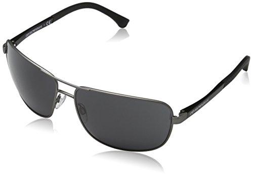 Emporio Armani EA2033 313087 Gunmetal EA2033 Square Aviator Sunglasses Lens - Sunglasses Emporio