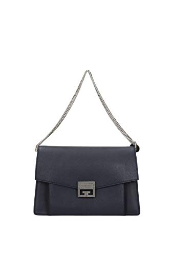 Bleu BB501DB032 Cuir Sacs Givenchy Femme D'épaule 7Xqw1WxWHT