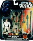 Star Wars Power of the Force Orange Card Deluxe Luke Skywalker and Desert Sport Skiff 3.75 (Sports Power Card)
