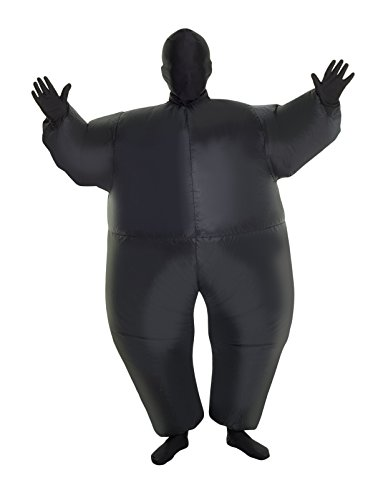 MorphCostumes Black MegaMorph Kids Inflatable Blow Up Costume - One -