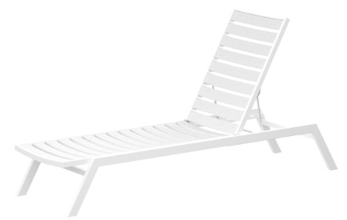 ro Chaise, Satin White/White (Contemporary Euro Style Seating)