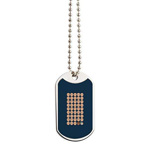 CafePress Emoji 45Th President Military Style Dog Tag, Stainless Steel with Chain (Barack Obama Dog Tag)