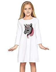 Girls Summer Flip Sequin Cotton Dress