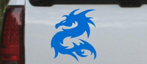 (6in X 7in Blue -- Tribal Dragon Car Window Wall Laptop Decal Sticker)