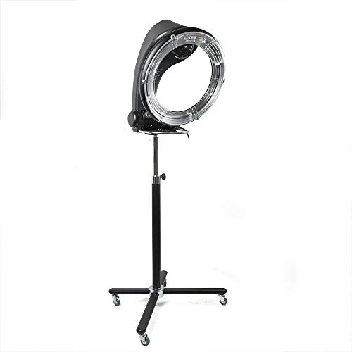 Free-standing Hair Dryer 1300W Professional Orbiting Rollerball Infrared Stand Salon Hair Dryer Standing Color Processor Accelerator Salon Drying Perming Machine with Detachable Wheels (110V 1300W)