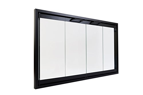 Prefab Fireplace Doors | Bi Fold Glass Doors with Frame for Prefab Fireplaces (42 5/8