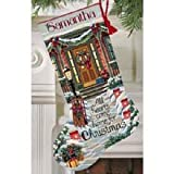 Dimensions Gold Collection Hearts/Home Stocking Cntd X-Stitch Kit