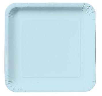 Pastel Light Blue Square Paper Plates 9-inch Deep Dish 18 Per Pack  sc 1 st  Amazon.com & Amazon.com: Pastel Light Blue Square Paper Plates 9-inch Deep Dish ...