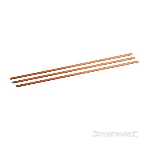 Silverline 746719 Broom Handles - 1500mm (5ft) Long - 29mm (1-1/8') Diameter - Pack of 30