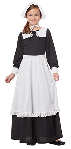 California Costumes Pilgrim Girl Child Costume, -