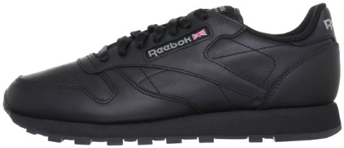 Reebok Schwarz L Leather Classic Femme Basses Baskets z7gxzarwq