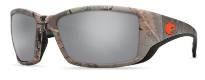 Costa Del Mar Blackfin Sunglasses, Realtree Xtra Camo, Silver Mirror 580 Plastic Polarized Lens
