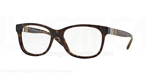 Burberry Women's BE2204F Eyeglasses Dark Havana - Eyeglasses For Women Burberry