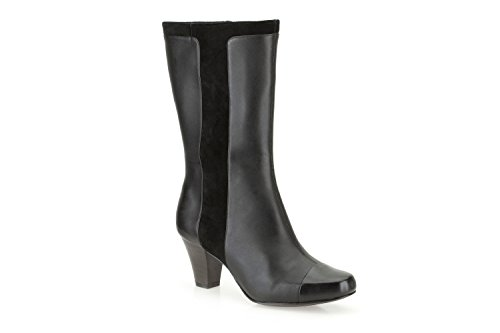 Ladies Clarks Smart Mid Calf Boots Lodge Cottage Black Leather