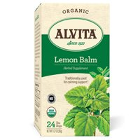 Organic Tea, Lemon Balm 24 Bags by Alvita Teas (Pack of 2) by Alvita Teas (Image #1)