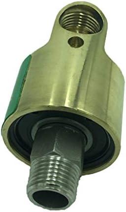 perfk スイベルコネクター スイベルエアホース継手 双方向 H型 スイベルジョイント - 左利き用アンチ歯