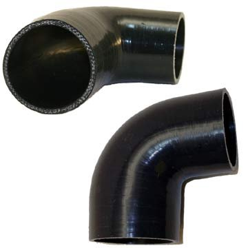 90 bend 2.5 to 1.75 Silicone Reducer Black