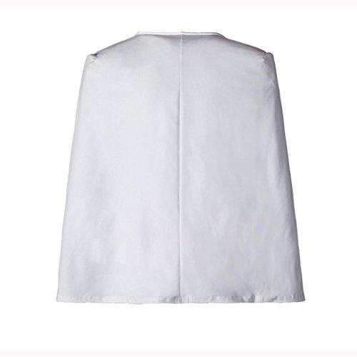 ESAILQ Mme gilet lache trench manteau veste court manteau veste Blanc cape cape nrrYUdEq