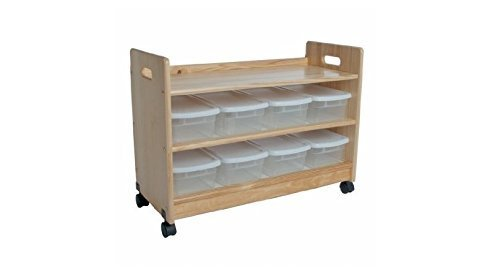 Little Colorado Toy Organizer with Casters, Natural
