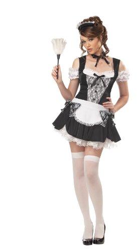California Costumes Women's French Kiss Costume,Black/White,Medium