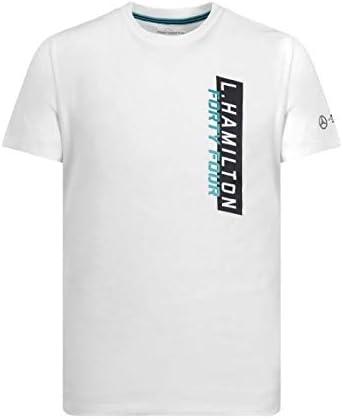 XXL Mercedes AMG Petronas Motorsport Lewis Hamilton T-shirt pour homme Blanc