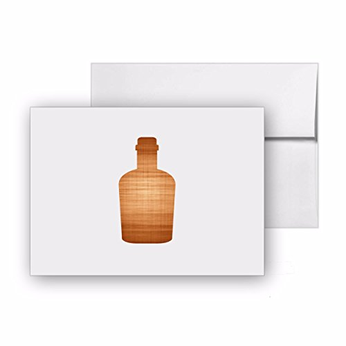 Bottle Of Liquor Alcohol Party Liquid Bar, Blank Card Invitation Pack, 15 cards at 4x6, with White Envelopes, Item - Bar Folded 4 Invitation Card