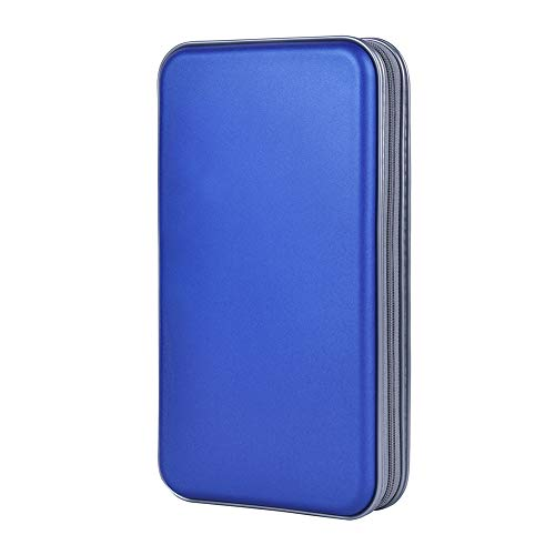 ALACHI USA CD Holder, 72 Capacity CD/DVD Case Holder Portable Wallet Storage Organizer Hard Plastic Protective Storage Holder for Car Travel(Blue) Cd / Dvd Case Holder