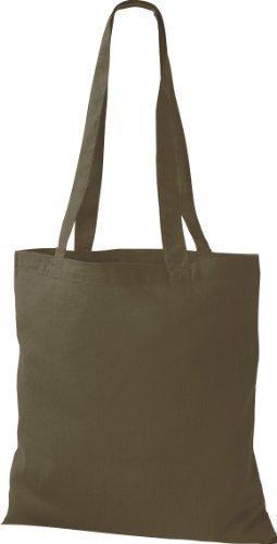 Shirtinstyle - Bolsa de algodón con asa verde - olive green