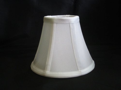 Urbanest 1100329 Chandelier Lamp Shades 6-inch, Bell, Clip On, White