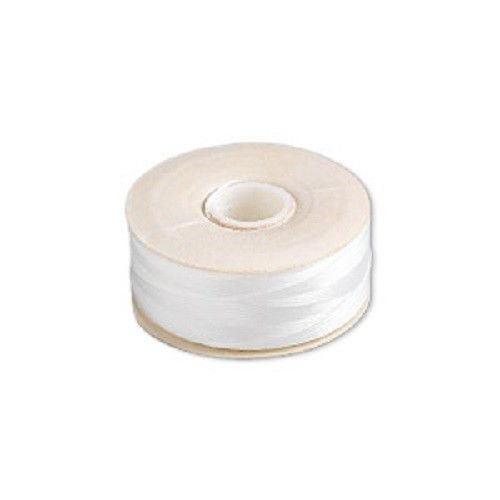 64 Yards White Nymo Size D Nylon Beading Craft Thread Yards Bobbin Spool USA