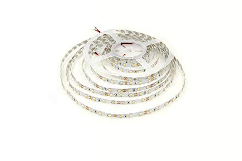 LEDMY Flexible Led Strip Light DC 24V 24W SMD3528 300LEDs IP20 Non Waterproof Led Tape Light Warm White 2400K 5Meter/ 16.4Feet Using for Homes, Gardens,Kitchen, Car and Bar