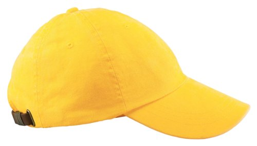 Adams mens 6-Panel Low-Profile Washed Pigment-Dyed Cap(AD969)-LEMON-OS (Pigment Dyed Cap Solid Twill)