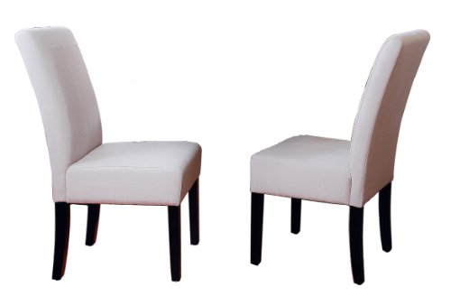 Best Selling Natural T-Stitch Fabric Dining Chair, 2-Pack