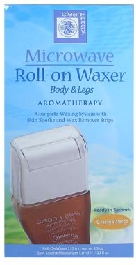 Clean & Easy Microwaveable Roll On Waxers Normal Skin Formula Ginseng & Mango 4.5oz