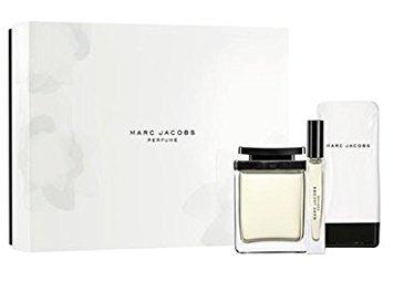 Marc Jacobs Perfume Classic Women Gift Set - 3.4 oz EDP Spray + 5.0 oz Body + .34 oz. Rollerball