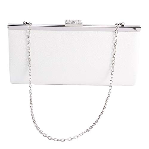 Party Glitter Rhinestone Shoulder Sparkly Bag White Ladies Crossbody Wedding Clutch Anladia Handbag Evening Sq584nt