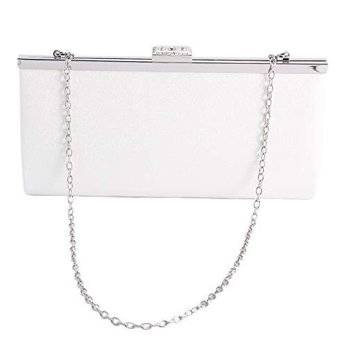 Wedding Evening White Ladies Glitter Anladia Clutch Crossbody Handbag Party Bag Shoulder Rhinestone Sparkly xY0axqwZ