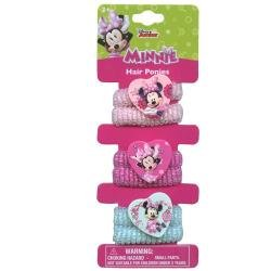 Minnie Mouse Ultimate Girls Gift Set Includes 6 ct Hair Ponies, Press On Nails, Light Up Necklace, and Band Ups