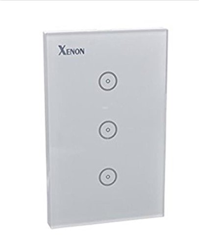 Xenon-Crystal-Tempered-Glass-Smart-Touch-Panel-WiFi-Wall-Light-Switch3-Gang-with-Wireless-Remote-Control-US-StandardWorks-with-Amazon-Alexa-and-Google-Assistant110-240V